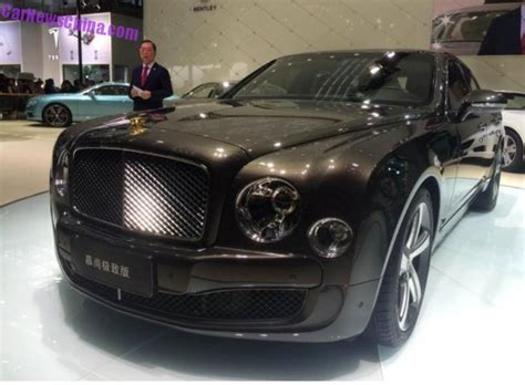 bentley chinese bentley mulsanne mulliner 24k gold edition launched in