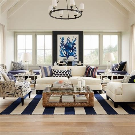 Coastal Inspired Living Rooms by How To Get The Htons Style For Less Yes