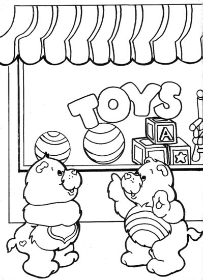 free coloring pages of toy shop