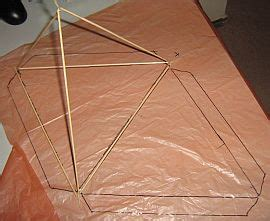 tetrahedron kite template tetrahedral kites step by step for a