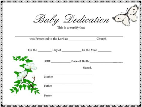 download birth certificate template for free formtemplate