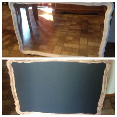 chalkboard paint on mirror mirror repurposed with chalkboard paint crafty projects