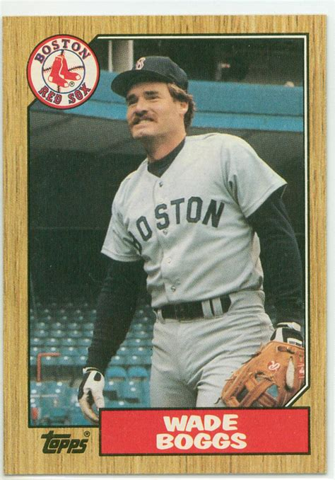 baseball cards wade boggs 1987 topps 30 year cardboard
