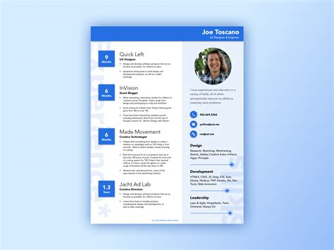 Resume Template Material Design Material Design Resume Style Sketch Freebie