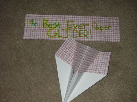 How To Make A Glider Out Of Paper - the best paper glider 6