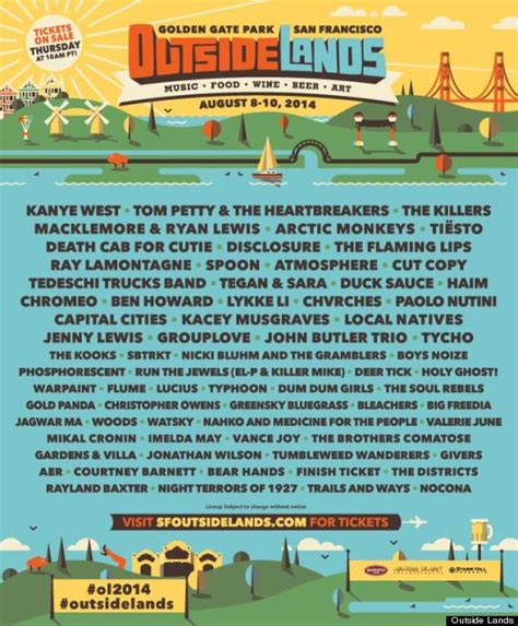 printable outside lands schedule image gallery outside lands 2014