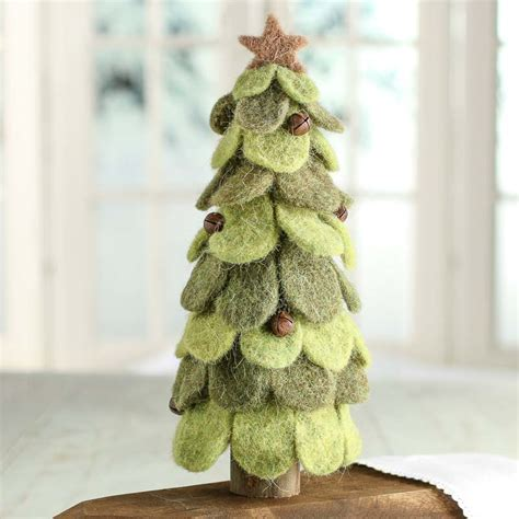 wool felt christmas tree christmas trees and toppers