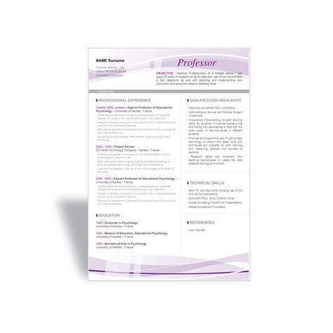 Resume Template For Professor Microsoft Word Cv Template Professor With Beautiful Designs
