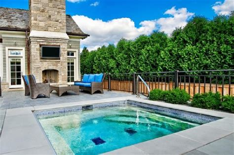 relaxing small inground pools backyard fiberglass