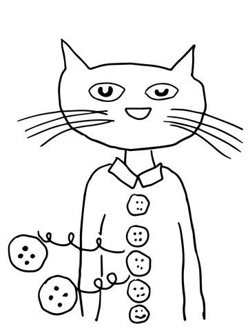 coloring page of pete the cat pete the cat groovy buttons coloring page free printable