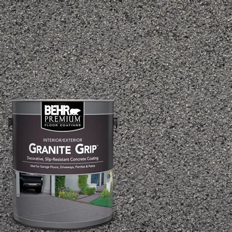 behr premium  gal gray granite grip decorative flat