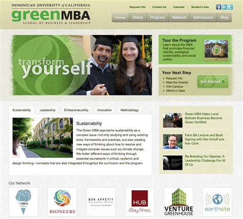 Mba Official Website by Of California S Green Mba Launches