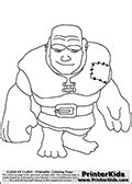 Clash Of Clans - Giant - Coloring Page | Clash of clans