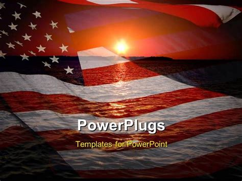 Patriotic Powerpoint Template Powerpoint Template America Patriotic Concept With Sunrise Over Patriotic Powerpoint Templates