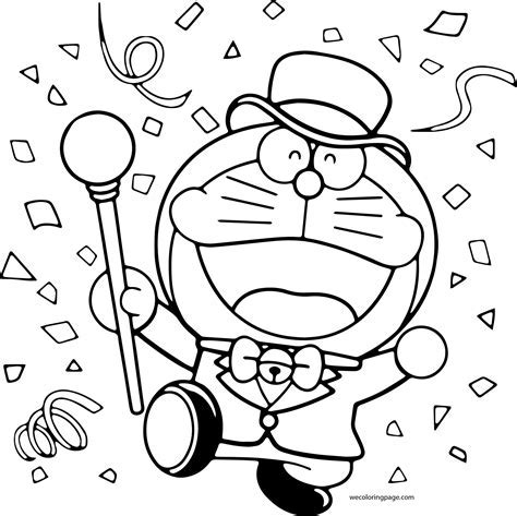 Doraemon Family Colouring Pages Coloring