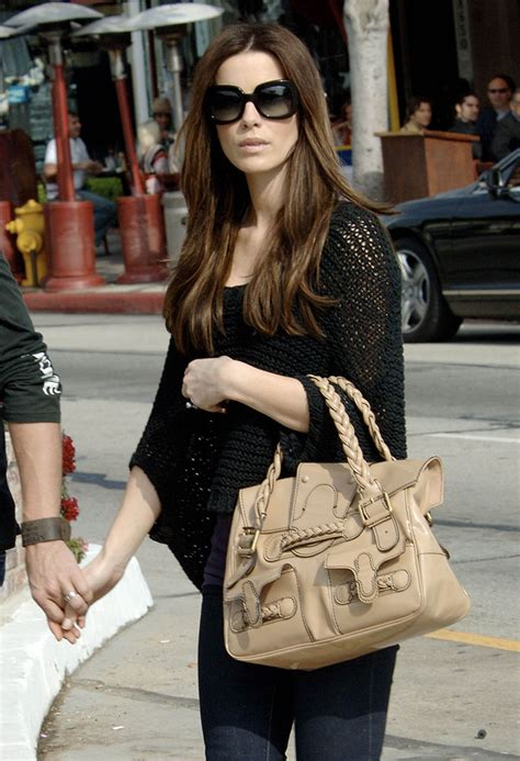 Kate Beckinsdale With Valentino Historie Purse the many bags of kate beckinsale purseblog