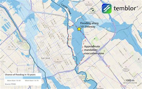 san jose flood map california floods continue to wreak havoc temblor net