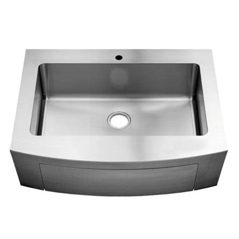 Julien Kitchen Sinks Julien Classic 0151 Farmhouse 16 Stainless Steel Single Bowl Kitchen Sink 30 X18 Quot X8