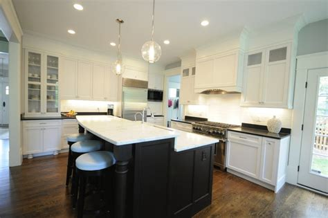 espresso and white kitchen cabinets white and espresso kitchen traditional dc metro by