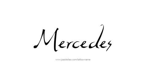 mercedes name designs
