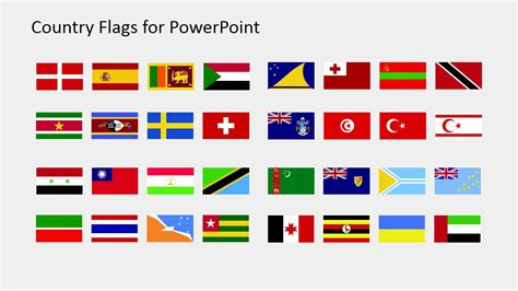Country Flags Clipart For Powerpoint S To Z Slidemodel Flags Of The World Powerpoint