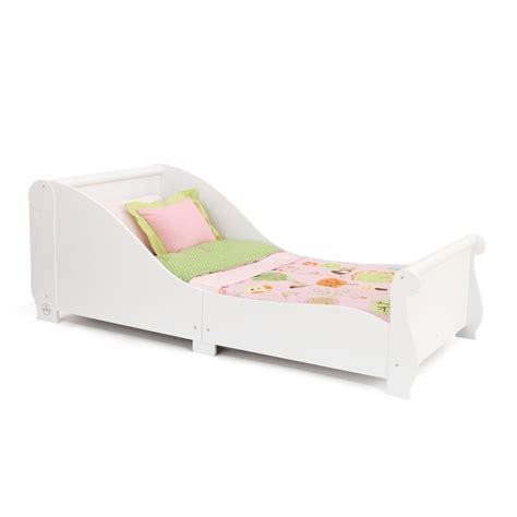 unique toddler beds for toddler sleigh bed in white unique beds cuckooland