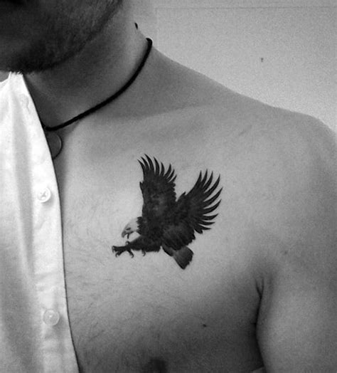 eagle tattoo on collarbone 80 eagle chest tattoo designs for men manly ink ideas