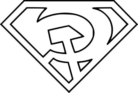 best superman symbol coloring pages images