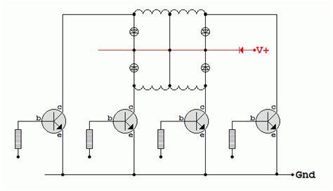 transistor bipolar stepper motor driver stepper motors