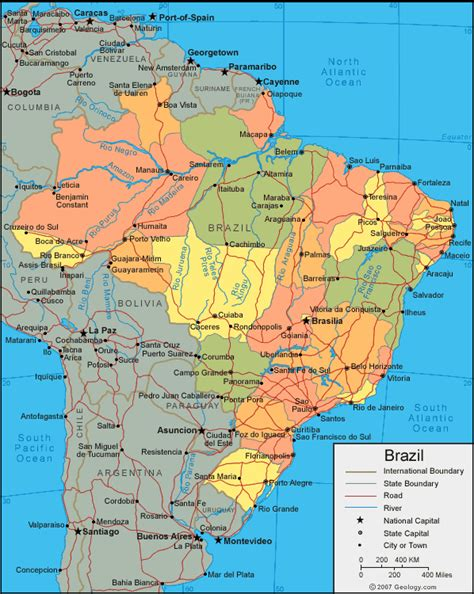 map of brazil with states brazil quiz global sherpa