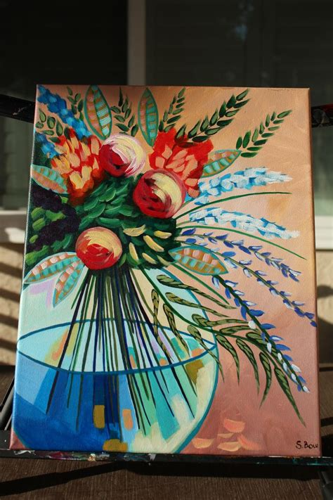 16 Vase Painting Lost Track Flowers In Vase Inspired By