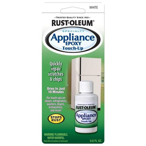 shop rust oleum 0 6 fl oz white gloss appliance touch up paint at lowes