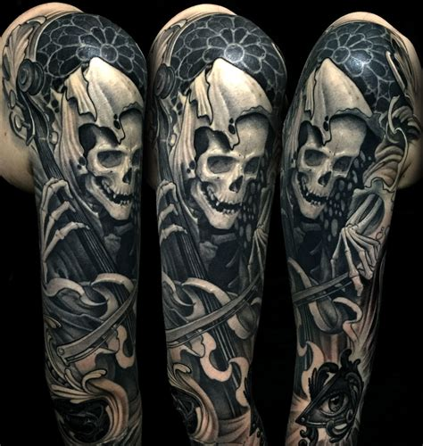 death tattoos symbology tattoos the greatest mystery of all
