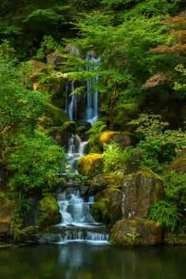 portland japanese garden rivers streams waterfalls