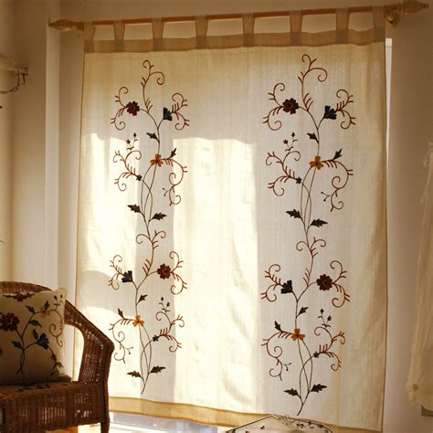 country curtain patterns country porch curtains floral pattern linen cotton blend