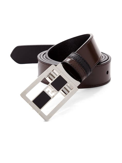 fendi leather belt in brown for lyst