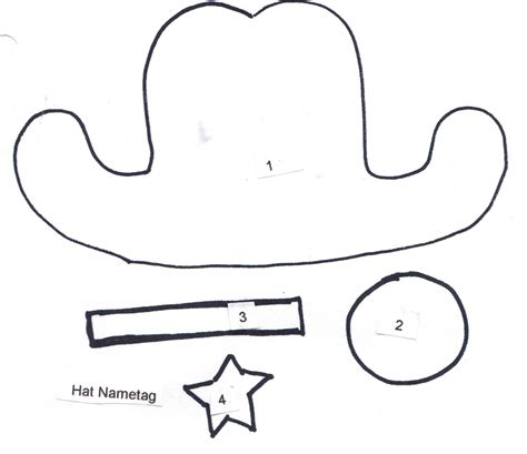 paper cowboy hat template best photos of cowboy hat from paper template paper doll