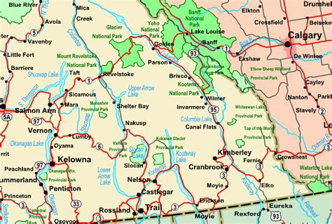 printable bc road map map of the kootenays pictures to pin on pinterest pinsdaddy