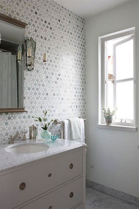tile accent wall in bathroom sarah richardson design bathrooms saltillo imports