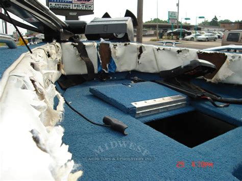 Boat Interior Repair by Midwest Auto Tops Upholstery Racoon Repair