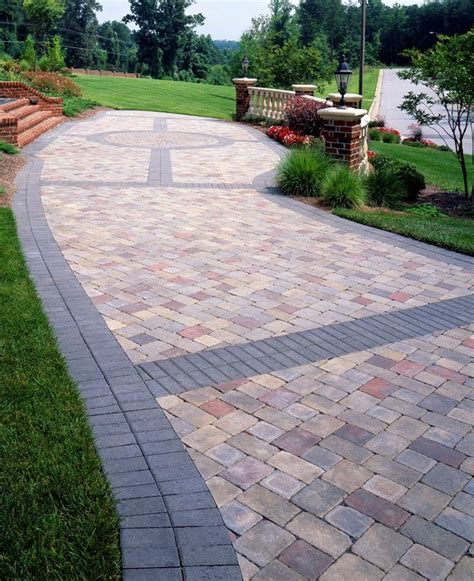 Landscape Ideas With Pavers Paver Banding Design Ideas For Pavers Landscape
