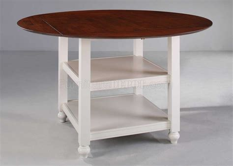 Counter Height Drop Leaf Table White Cherry Finish Drop Leaf Counter Height Table
