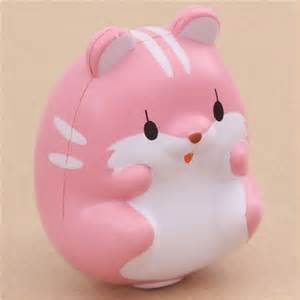 Cute Mugs by Kawaii Eyes Open Pink Hamster Animal Scented Squishy By