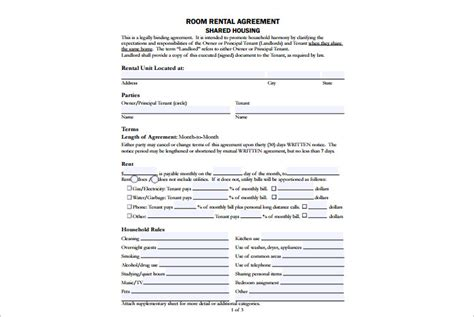16 Room Rental Agreement Template Free Word Doc Pdf Formats Room And Board Rental Agreement Template