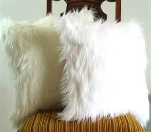 Fluffy Throw Pillows White Fur Pillow Throw 18 X 18 Fluffy White Fur By