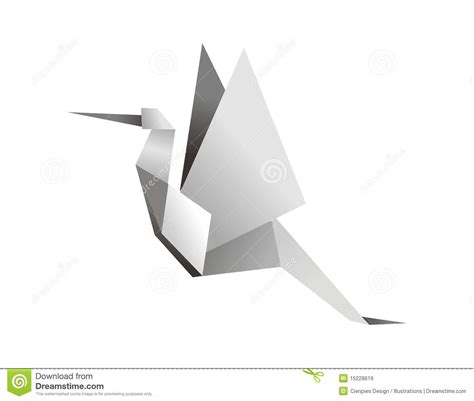 Origami Stork - origami stork stock vector image of beak animals birds