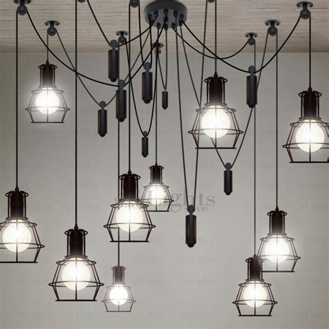 10 Light Country Style Industrial Kitchen Lighting Pendants Industrial Pendant Lights For Kitchen