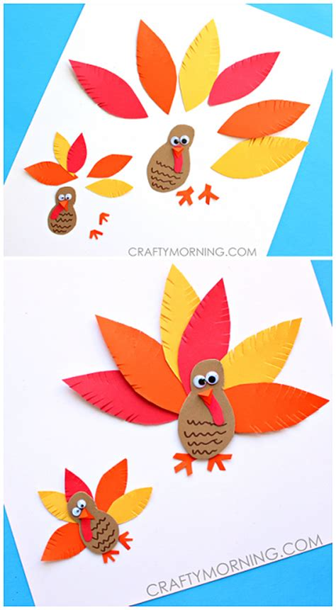 Paper Turkeys Kid Crafts - artistic turkey crafts for to create crafty morning
