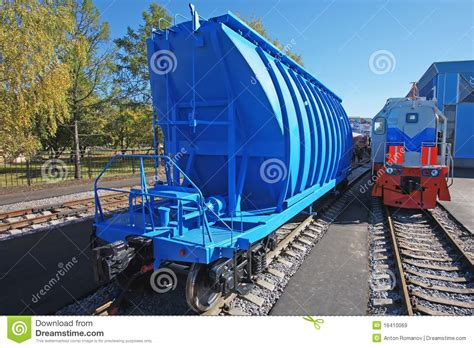 blue freight car for freight and shunting royalty