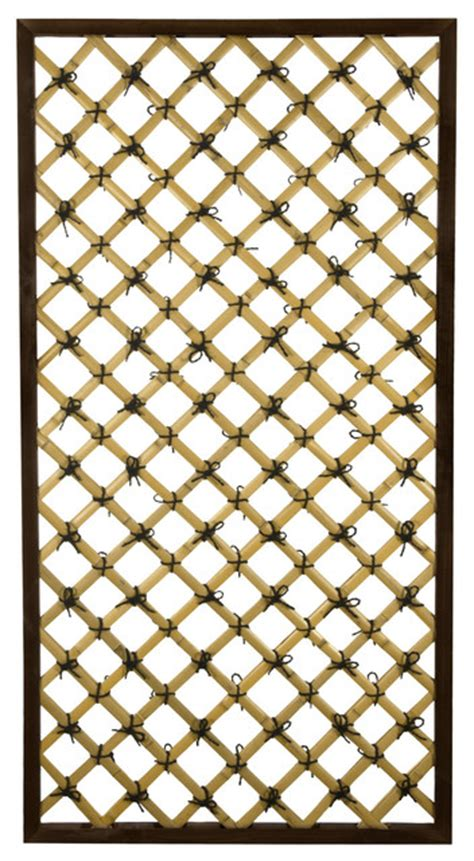 3 Foot Trellis 6 Ft X 3 Ft Traditional Bamboo Trellis Asian